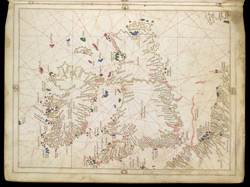 Portolan Chart of the British Isles f. 6v